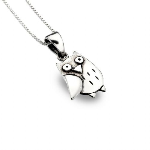 Owl Pendant Necklace Sterling Silver 925 Hallmark All Chain Lengths